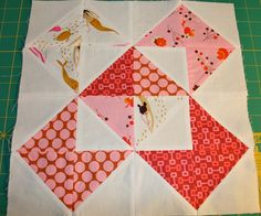 Love this quilt block and those fabrics!