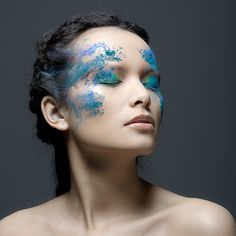 Looks so cool, maybe highlighting cheeks and other places in the face?