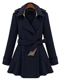 WW Women's Winter Double Breasted Slim Fit Belt Outwear Trench Coat S Blue W&W http://www.amazon.ca/dp/B00P0WYQ7Q/ref=cm_sw_r_pi_dp_fZL1ub14Q6TW3