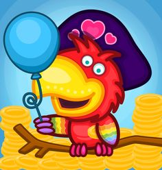 Pepe the Pirate! Tweety, Pirates, Cute Pictures, Fictional Characters, Art, Craft Art, Cute Pics, Kunst, Gcse Art