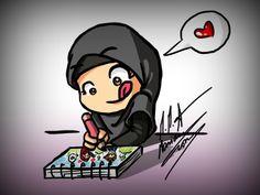 hehehe n___n .draw draw draw n____n !keep drawing and don't ever stop n____n ! enjoy drawing n__n Cartoon Drawings, Cartoon Art, Girl Drawings, Human Painting, Hijab Drawing, Islamic Cartoon, Islam For Kids, Hijab Cartoon, Couple Cartoon