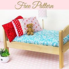 Learn how to sew a doll mattress in part 5 of my doll bedding series. This DIY doll mattress pattern is easy for beginners and will fit any size doll bed. Diy Doll Bed Mattress, Diy Doll Bunk Bed, 18 Doll Bed, Baby Doll Bed, Doll Beds, Diy Bed, Diy Ikea Doll Bed, Ikea Bed, Doll Quilt