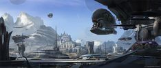 concept ships: Guardians of the Galaxy concept art by Stephan Martiniere