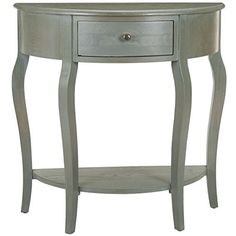 Safavieh Jan Demilune Half-Round Console Table w/ Drawer