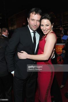 Actors James Purefoy (L) and Lynn Collins arrive at the Walt Disney Presents 'John Carter' premiere held at Regal Cinemas L.A. Live on February 22, 2012 in Los Angeles, California.