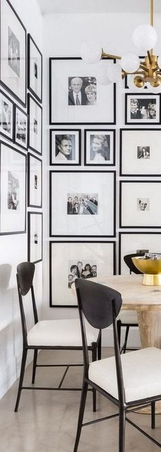 Dining Room with Beautiful Gallery Wall
