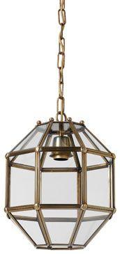 H3-008 Octagonal lantern, distressed brass