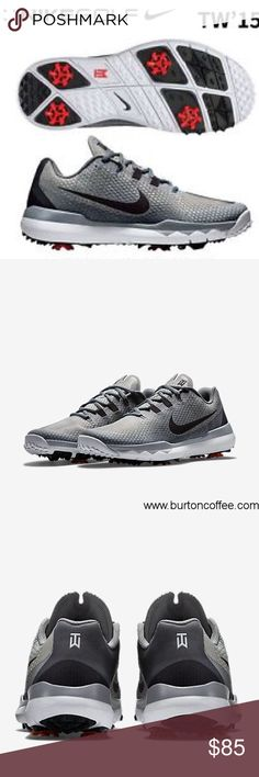 brand new 6bb9f e64db NWT Nike Tiger Woods Men Golf Shoe Please make offers! Tiger Woods Golf  Shoe Men size 9W Gray and Black Original price  250 Brand new never worn! Nike  Shoes ...