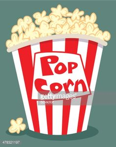 Tub Of Popcorn Vector Art | Getty Images