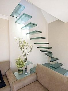These stairs are not an optical illusion, but cleverly mounted directly onto the wall.