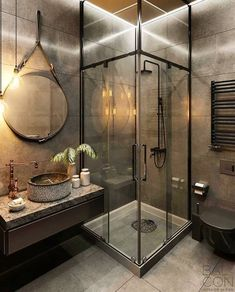 This morning I am sharing some industrial style bathroom inspiration from I just love the tap and sink! Whats your thoughts? Best Bathroom Designs, Modern Bathroom Design, Bathroom Interior, Modern Design, Dark Bathrooms, Amazing Bathrooms, Small Bathroom, Wc Bathroom, Luxurious Bathrooms