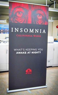 Eye catching banner for @dhs_wine ... will those eyes be keeping you up at night?