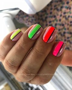 Rainbow Nails, Neon Nails, Swag Nails, Nail Design Stiletto, Nail Design Glitter, Nails Design, Thanksgiving Nail Designs, Thanksgiving Nails, Bright Summer Nails