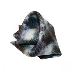 Cactus Pocket square. Silk pochette (100%silk, twill). Cactus print made in Italy.