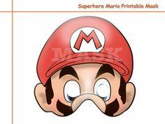 Unique 1 Superhero Mario Printable от AmazingPartyShop на Etsy