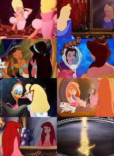 Mirrors, princess style