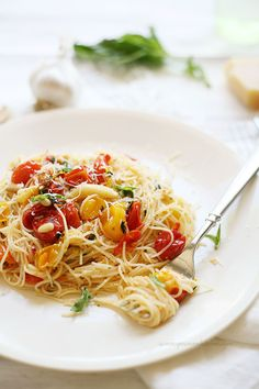 Roasted Cherry Tomato and Garlic Cappellini
