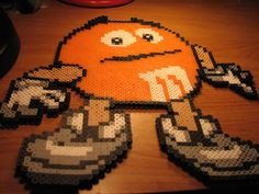 orange mm perler by ndbigdi.deviantart.com on @DeviantArt