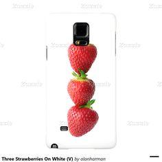 Three Strawberries On White (V) Galaxy Note 4 Case