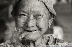 Cigar Lady Karen Hill Tribe Elder Thailand by ImageNationphoto, $50.00