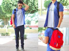 Pierre Cardin Polo, Outdoor Products Backpack, Super Shirt, Ray Ban Aviators