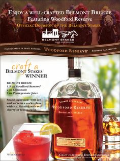 The Belmont Breeze - the official cocktail of the Belmont Stakes!