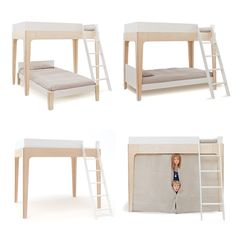 oeuf perch bunk bed - dimensions | design- kids rooms, hidden
