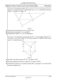 Modele Subiecte Evaluare Nationala 2019 – Matematica Line Chart, Handmade, Hand Made, Craft