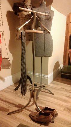 Vintage Spqr Men S Suit Valet Butler Wood Hanger Stand