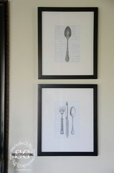 StoneGable: VINTAGE SILVERWARE WALL ART DIY with 4 free downloads Would love this in my new kitchen