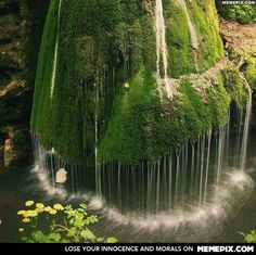 Bigar Waterfall in Transylvania, Romania - OMG would LOVE to swim under this!!! So romantic and magical