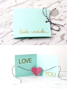 Valentines Day Card with a Heart inside Who doesn't love surprises? Your loved one would be so amazed how creative you are when you give him/her this card.