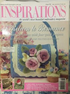 Inspirations Magazine The World 039 s Most Beautiful Embroidery Issue 56 NEW Inspirations Magazine, Embroidered Cushions, Patterned Sheets, Sewing Material, Article Design, World's Most Beautiful, Print Magazine, Pin Cushions, Victorian Fashion