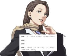 Ace attorney text post
