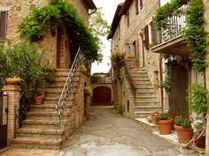 Tuscany Stairways. Tuscany, Italy.