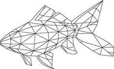 Billedresultat for geometric fish Geometric Lines, Geometric Designs, Minimal Drawings, Background Design Vector, Quilling Patterns, Art Plastique, Tribal Art, Fractal Art, String Art