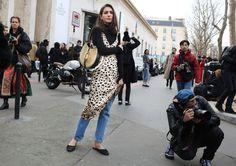 Diletta Bonaiuti with a Loewe bag