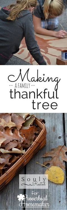 Making a Family Thankful Tree - Proverbial Homemaker