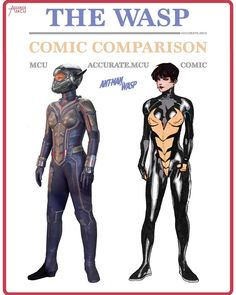 """13.7k Likes, 127 Comments - • Accurate.MCU • mcu fanpage (@accurate.mcu) on Instagram: """"• THE WASP - COMIC COMPARISON • So what do you guys think of the wasp's costume now we finally have…"""""""