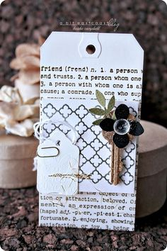 Simple graphic tags from A Bit East Coast.  Love this lady's style - simple & elegant