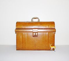 Vintage Trunk 50s Metal by CheekyVintageCloset on Etsy, $44.00