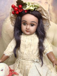 Adorable cabinet size french mulato Steiner A Bebe.