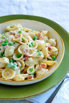 Orecchiette with Peas, Pancetta & Cream Recipe on Yummly