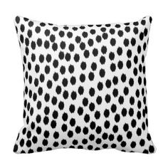 Black and White Scattered Dots Pillow  www.prettythrowpillows.com