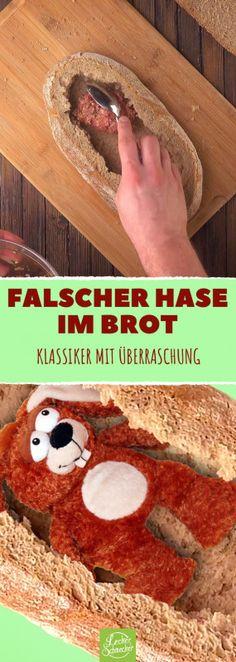 Falscher Hase im Brot #hackfleisch #hack #braten #kochvideos #kochen #backen #füllung