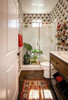 38 New BOHO Decor Make Your Home Fresh home design, , interior design, BOHO decor Boho Bathroom, Rustic Bathrooms, Bathroom Styling, Bathroom Interior, Small Bathroom, Bathroom Ideas, Garage Bathroom, Bathroom Carpet, Downstairs Bathroom