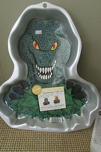 wilton dinosaur cake pan instructions