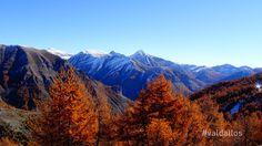 Paysage d'automne et sommets du Val d'Allos photo office de tourisme du Val d'Allos - Caroline #automne #mintagne #valdallos