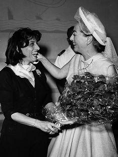 Anna Magnani and Joan Crawford