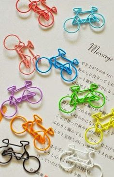 5 PCS Paper Clips Bike Shaped Metal Bookmarks Cute Bookmarks-Color Random korean stationery on Etsy, Cool Stationary, Stationary Supplies, Stationary Design, Menu Design, Design Design, Logo Design, Korean Stationery, Cute Stationery, Cute Bookmarks